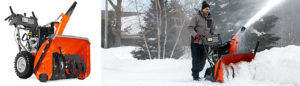 stora snöslungor, snöslunga, husqvarna snöslunga